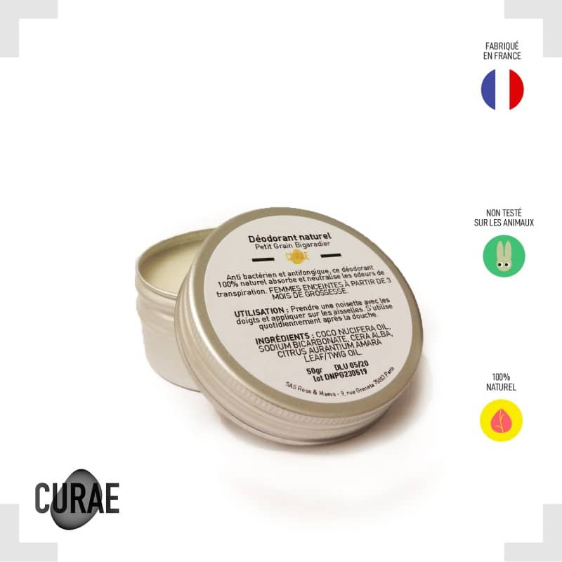 Déodorant naturel - Petit grain Bigarade (fleur d'oranger) 50ml