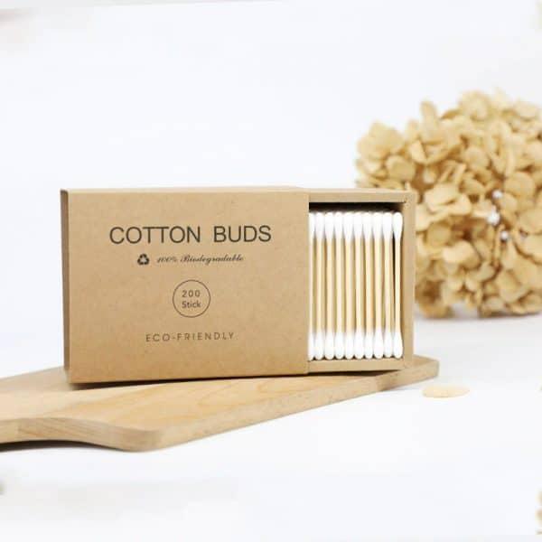 Coton-tiges recyclabe à double tête en bambou boite de 200